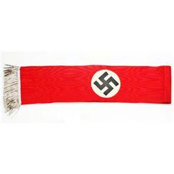 GERMAN NAZI SWASTIKA FUNERAL SASH