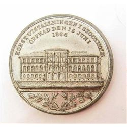 RARE 1866 SWEDISH EXPOSITION SOUVENIR TOKEN / COIN