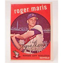 1959 TOPPS #202  ROGER MARIS BASEBALL CARD