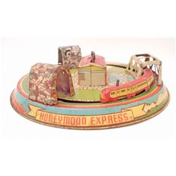 C. 1940S TIN LITHO HONEYMOON EXPRESS WIND-UP TRAIN