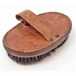 CIVIL WAR ERA US CAVALRY LEATHER HORSE BRUSH