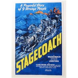 """STAGECOACH"" JOHN WAYNE MOVIE POSTER PRINT"