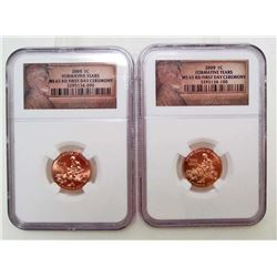 LOT OF 2 2009-P LINCOLN 1 CENT FORMATIVE YEARS COINS