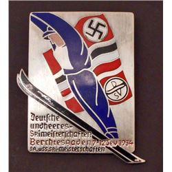GERMAN NAZI BERCHTESGADEN 1934 SKI BADGE