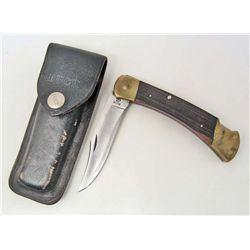 VINTAGE BUCK 110 FOLDING KNIFE W/ CASE