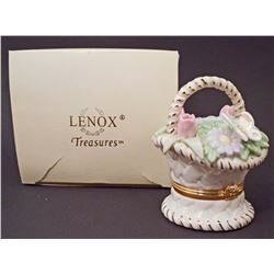LENOX TREASURES BASKET OF BLOSSOMS TREASURE BOX
