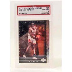 2000 UD NO. 87 MICHAEL JORDAN BASKETBALL CARD - PSA
