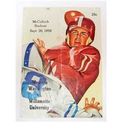 1959 WILLAMETTE UNIVERSITY FOOTBALL PROGRAM