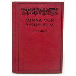 """1904 """"MINNA VON BARNHELM"""" HARDCOVER BOOK"""