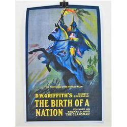 """D.W.GRIFFITHS """"THE BIRTH OF A NATION"""" MOVIE POSTER"""