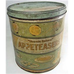 VINTAGE APPETEASERS ADVERTISING TIN - UNEEDA BAKERS - NAT'L BISCUIT COMPANY