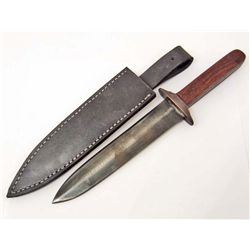 JOHN BROWN 1*XL ARKANSAS TOOTH PICK BOWIE KNIFE W/ SHEATH
