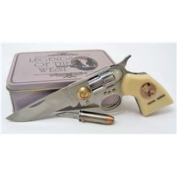 LEGENDS OF THE WEST JESSE JAMES KNIFE IN COLLECTIBLE TIN