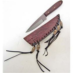MEDIUM PATCH HUNTER KNIFE W/ SHEATH