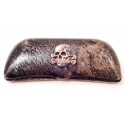 GERMAN NAZI WAFFEN SS - TOTTENKOPF - GLASSES CASE