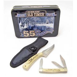 SCHRADE SCRIMSHAW OLD TIMER KNIFE SET