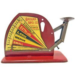 BROWER MFG. CO ADVERTISING EGG SCALE
