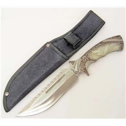 RIDGE RUNNER FIXED BLADE KNIFE W/ IMITATION PEARL HANDLE