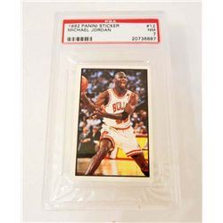1992 MICHAEL JORDAN NO. 12 BASKETBALL CARD - PSA