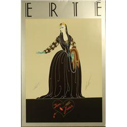 Erte Don Juan Hand Signed Poster
