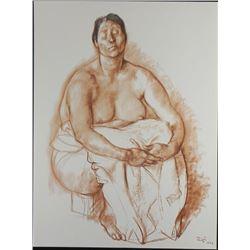 Francisco Zuniga Evelia Art Print- 20 Dibujos Portfolio