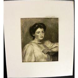 Renoir Portrait Mademoiselle Renee Riviere Engraving