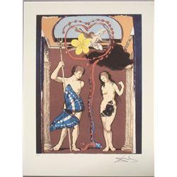 Salvador Dali : The Lovers, Adam and Eve Art Print