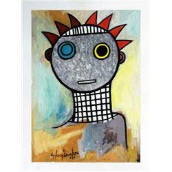 Ephrem Kouakou: Untitled XLI (Colorful Bust)