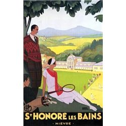 Roger Broders St. Honore les Baines Tennis Golf Print