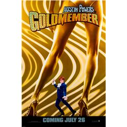 Austin Powers in Goldmember Rare Recalled Poster with Holofoil Title