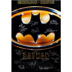 Tim Burton's Batman Original 1989 One-Sheet Poster Signed by Cast