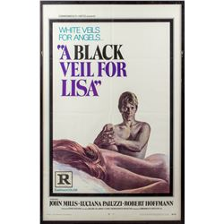 A Black Veil for Lisa Rare Vintage 1968 One-Sheet Poster