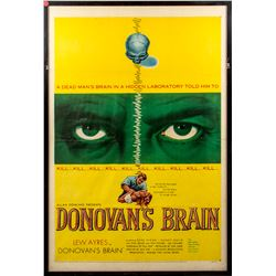 Donovan's Brain Vintage 1953 One-Sheet Poster
