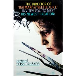 Edward Scissorhands Original 1990 Double-Sided One-Sheet Poster