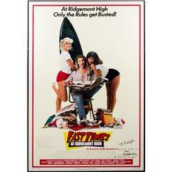 Fast Times at Ridgemont High Poster Signed by Director Amy Heckerling & Screenwriter Cameron Crowe