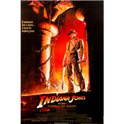 Indiana Jones and the Temple of Doom Poster Signed by Harrison Ford, Steven Spielberg & George Lucas