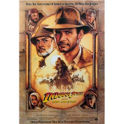 Indiana Jones & the Last Crusade Poster Signed by Ford, Connery, Spielberg and Lucas