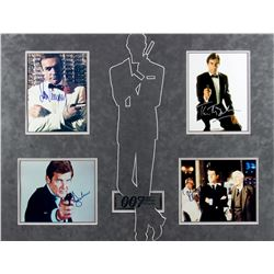 James Bond Four-Piece Autograph Photo Set