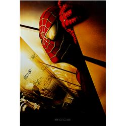 Spider-Man Original 2001 One Sheet Advance Poster Signed by Cast
