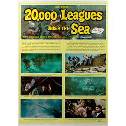 20,000 Leagues Under the Sea Vintage 1954 Style B One-Sheet Poster