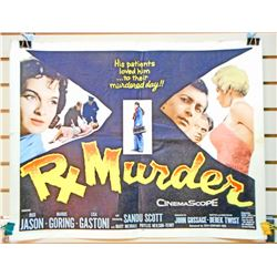 "1958 RX MURDER HALF SHEET MOVIE POSTER APPROX. 28"" X 21 1/4"""