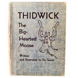 "1948 ""THIDWICK THE BIG HEARTED MOOSE"" DR. SEUSS HARDCOVER BOOK"
