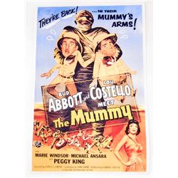 ABBOTT AND COSTELLO MEET THE MUMMY MOVIE POSTER PRINT - 11X17