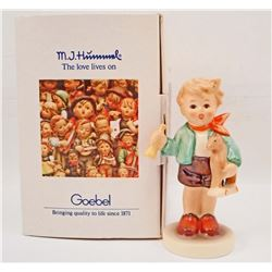 VINTAGE HUMMEL BOY WITH HORSE FIGURINE IN ORIGINAL BOX