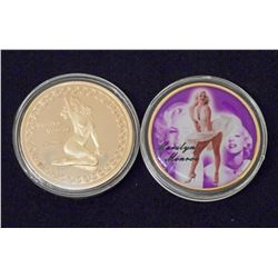 24K GOLD CLAD MARILYN MONROE COLLECTIBLE COIN