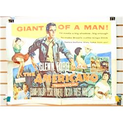 "1954 THE AMERICANO HALF SHEET MOVIE POSTER APPROX. 28"" X 21 1/4"""