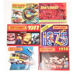 LOT OF 6 VINTAGE 1970'S MATCHBOX COLLECTORS CATALOGS