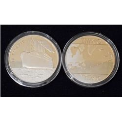 VOYAGE OF THE RMS TITANIC GOLD CLAD COLLECTIBLE COIN
