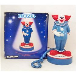 VINTAGE BOZO THE CLOWN TELEPHONE IN ORIGINAL BOX