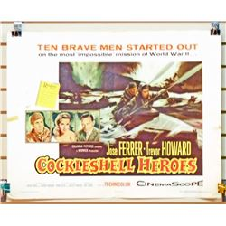 "1956 COCKLESHELL HEROES HALF SHEET MOVIE POSTER APPROX. 28"" X 21 1/4"""